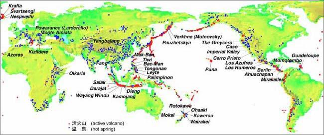 世界の地熱発電所